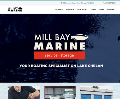 Mill Bay Marine web page